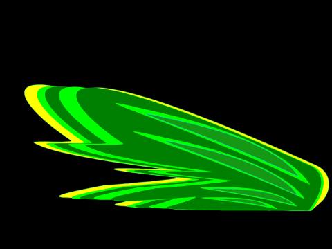 gelb Lego Elves 2 kleine Flügel in transparent neon grün